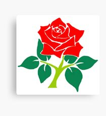 England Cricket Rose Canvas Print