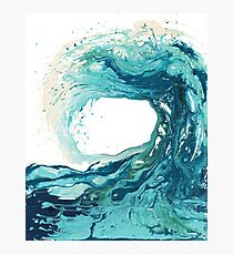 Ocean Wave Art Print Picture - Turquoise Sea Surf Beach Decor  Photographic Print