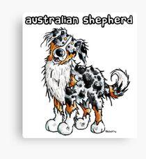 Cute Australian Shepherd Dog Canvas Print