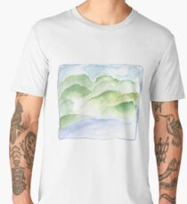 Watercolor landscape Men's Premium T-Shirt