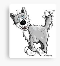 Funny Laughing Wolf Canvas Print