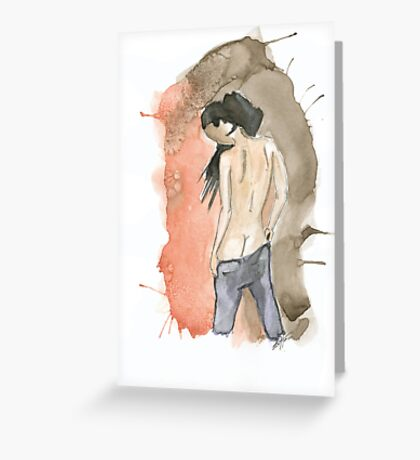 Anonymous nude I Greeting Card