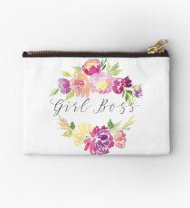 Mädchen Boss Aquarell Blumendruck - Girl Power inspirierende Geschenkidee Täschchen