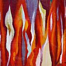 Flames | Abstract Acrylic Painting by Maria Meester