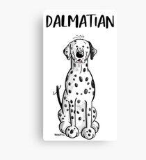 Funny Dalmatian Dog Canvas Print