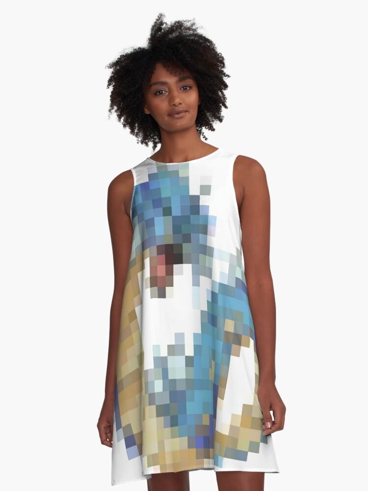 8-bit Pokemon A-Line Dress Front
