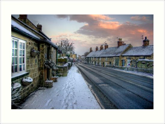 Village Snow by Dave Warren
