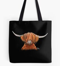 Scottish Hairy Highland Cow ' HARLEY 2 ' by Shirley MacArthur Tote Bag