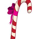 Single candy cane by Maria Nazarian
