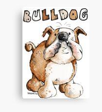 Cute English Bulldog Canvas Print