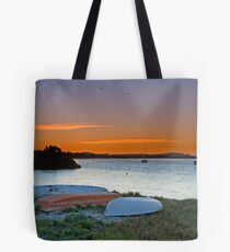 Sunset on Myall River Tote Bag