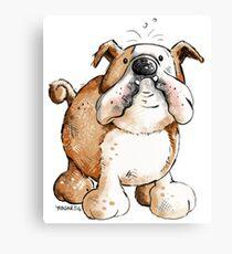 Funny English Bulldog Canvas Print