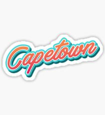 Capetown Typography Sticker