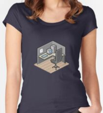 Cubicle Women's Fitted Scoop T-Shirt