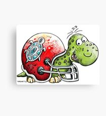 Funny Football Turtle Canvas Print