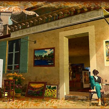 Art Gallery in Southern France by Mina-K