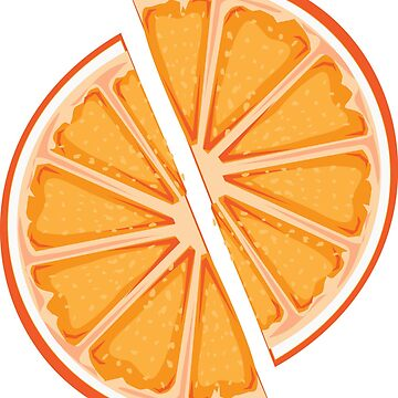 Pair of orange slices by Arollo