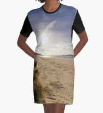 Lisfannon Beach, Fahan, County Donegal, Equirectangular  Graphic T-Shirt Dress