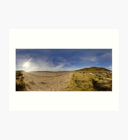 Lisfannon Beach, Fahan, County Donegal, Equirectangular  Art Print