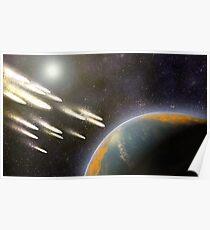 Kometenbeschuss der Erde Poster