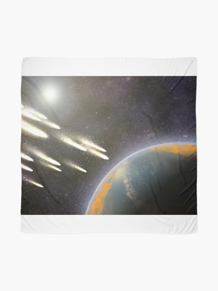 Alternative Ansicht von Kometenbeschuss der Erde Tuch