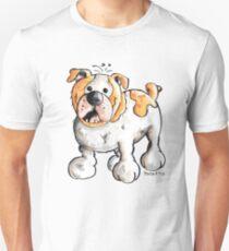 Happy English Bulldog Unisex T-Shirt