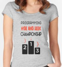Funny Gift For Coder or Programmer Women's Fitted Scoop T-Shirt