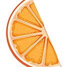 Single orange slice by Maria Nazarian