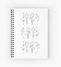 Ink flowers Spiral Notebook