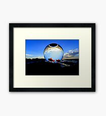 """""""WATCHING THE WORLD SPIN ROUND """" Framed Print"""