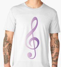 Treble Clef Purple gradient Men's Premium T-Shirt