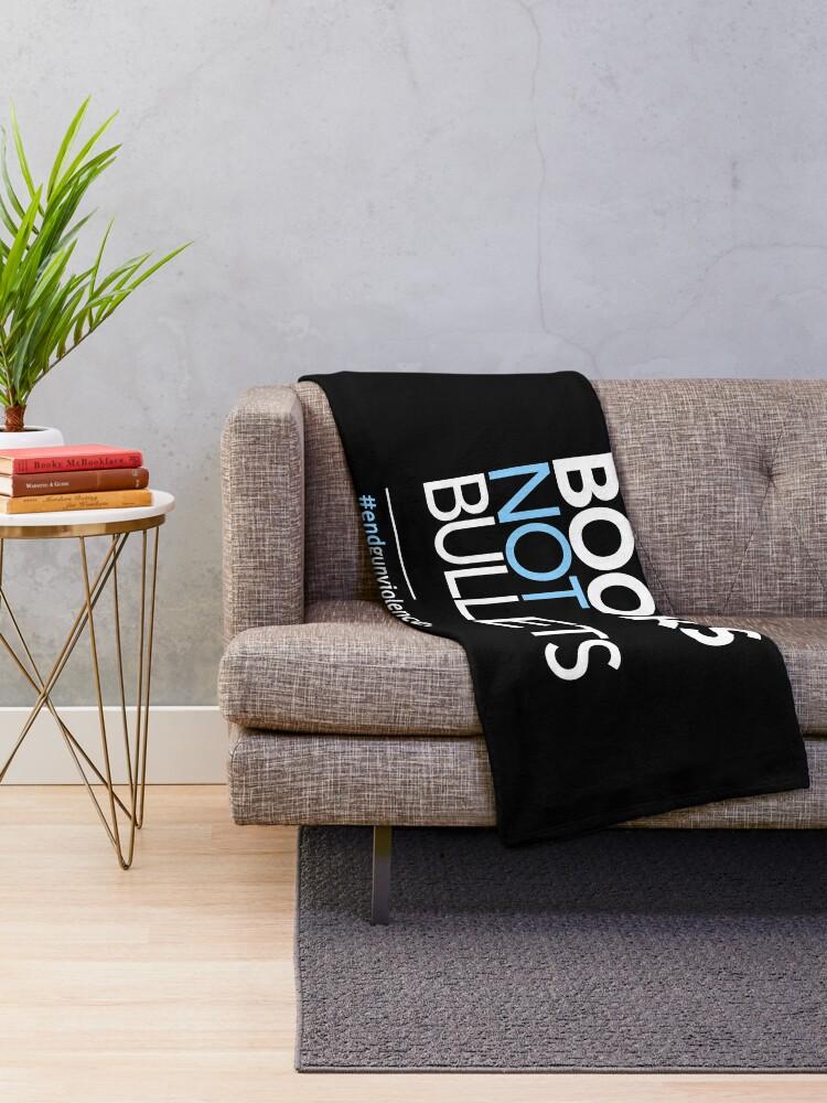 Alternative Ansicht von Bücher nicht Kugeln, März für unser Leben Fleecedecke