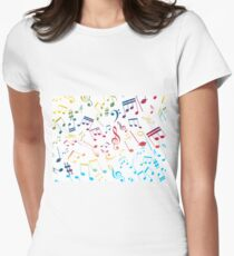 Musical Notes XIII Women's Fitted T-Shirt