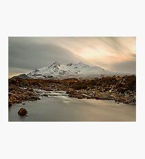 Sgùrr nan Gillean and The River Sligachan Isle of Skye Photographic Print