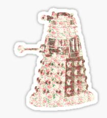 Floral Dalek Sticker