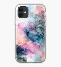 Heavenly Pastels 1: Original Abstract Ink Painting iPhone Case