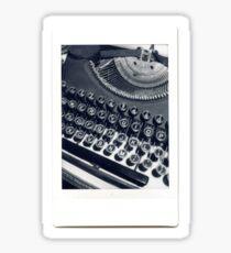 Typewriter Number 1 Sticker