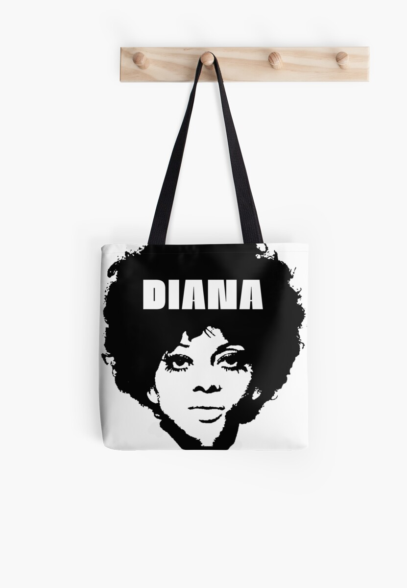 Diana Ross Super Cool T Shirt The Supremes Motown Tote Bags By