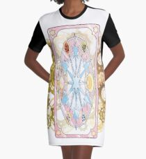 Clear Card (back) - CardCaptor Sakura Clear Card Hen Graphic T-Shirt Dress