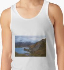 Country road in the Scottish Highlands of Sutherland Scotland UK Tank Top