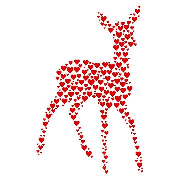 Deer made from heart shapes by florintenica