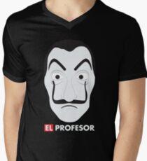 El Profesor La Casa De Papel Men's V-Neck T-Shirt