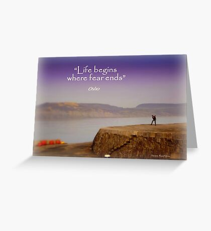 A Misty Afternoon at the Cobb Greeting Card
