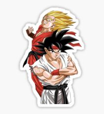 Goku Vegeta - Street Fighter Sticker