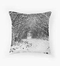 Snowy Twitten Throw Pillow