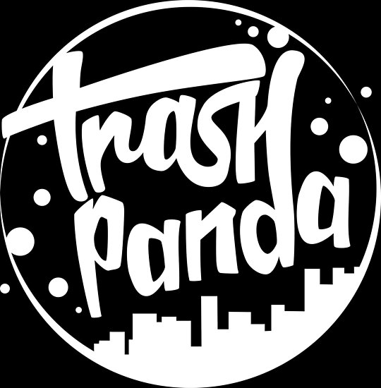 trash panda trap nation logo parody white posters by martin