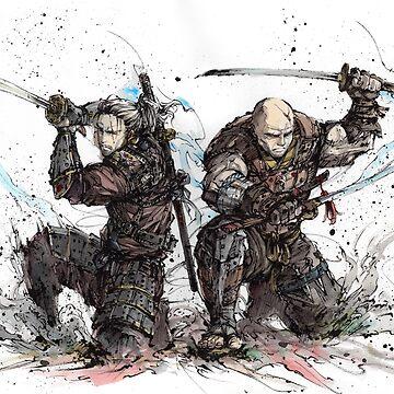 Samurai Duo - Super Samurai Geralt and Letho by Mycks