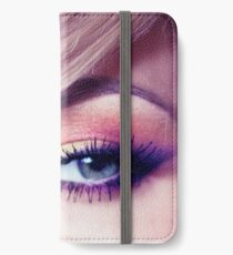 Close up eye with beautiful colors iPhone Wallet/Case/Skin