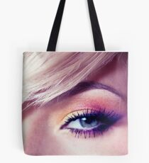 Close up eye with beautiful colors Tote Bag