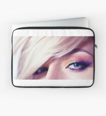 Close up eye with beautiful colors Laptop Sleeve